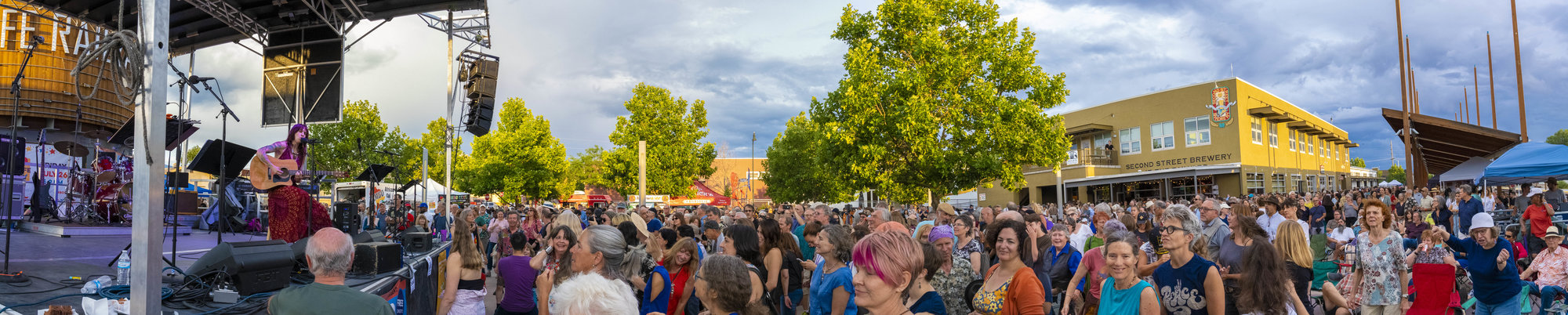Panorama of Best of Santa Fe 2019 Aretha Franklin tribute concert